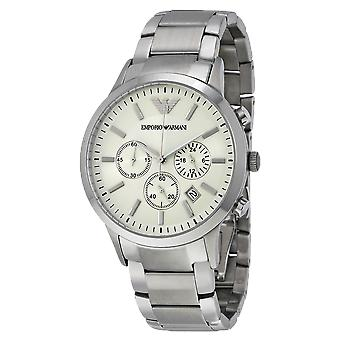 Emporio Armani AR2458 Stainless Steel White Dial Chronograph Watch