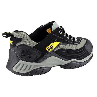 Caterpillar Unisex Moor Safety Trainers Textile Leather Rubber Phylon Lace Up