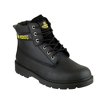 Amblers Steel FS112 Mens Safety Boots Textile Leather Dual Density PU Lace Up