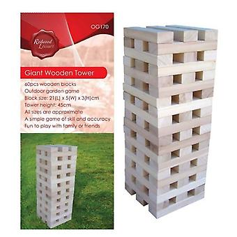 Giant Wooden Tower Game Outdoor Garden Fun Play Toys Games