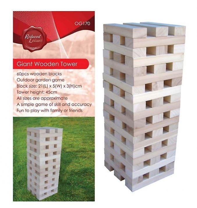 Giant Wooden Tower Game Outdoor Garden Fun Play Toys Games
