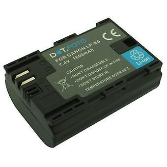 Dot.Foto Canon LP-E6 Replacement Battery - 7.4v / 1600mAh