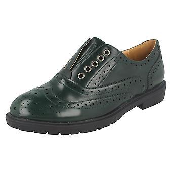 Señoras del punto de encaje acento patrón zapato F9869