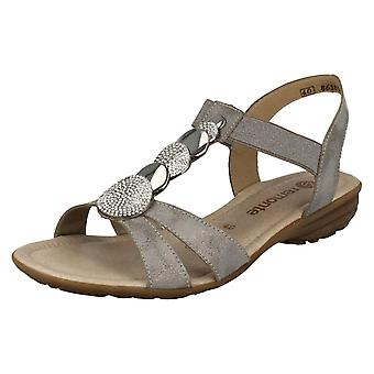 Ladies Remonte T-Bar Casual Sandals R3638