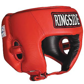 Ringside Competition Boxing Headgear Without Cheeks - Red