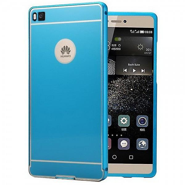 Aluminium bumper 2 pieces with cover blue for Huawei Ascend P8
