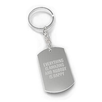 Everything Is Amazing Sarcastic Quote Cute Key Chains Funny Gifts