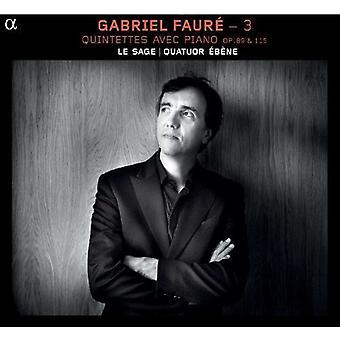 G. Faure - Faur : Quintettes Avec Piano, Opp. 89 & 115 [CD] USA import