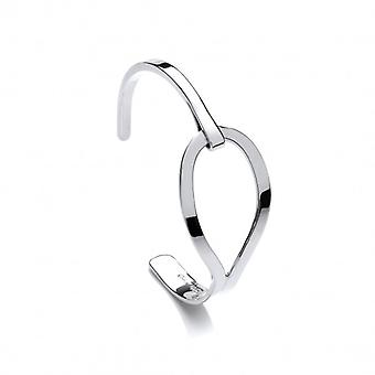 Cavendish French Sterling Silver Giant Ribbon Loop Cuff Bangle