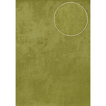 Uni wallpaper Atlas TEM-5113-6 non-woven wallpaper smooth with spatula look and metallic effect Green Apple green pale green gold 7,035 m2