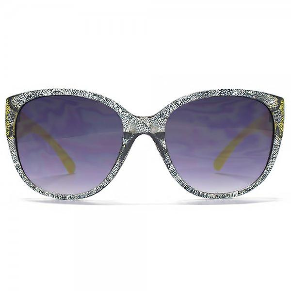 Miss KG Glamour Plastic Sunglasses In Clear & Black Lace