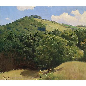 Pal Szinyei Merse - Landscape with Trees Poster Print Giclee