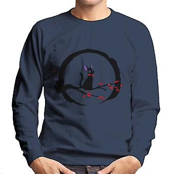 Jiji Under The Moon Studio Ghibli Men's Sweatshirt