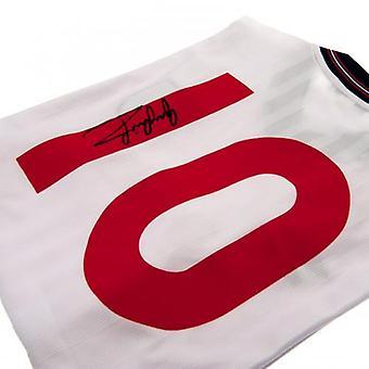 Inghilterra FA Lineker firmato camicia