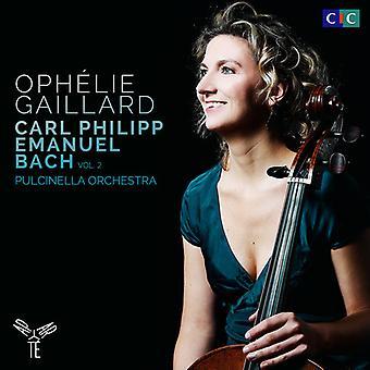 C.P.E. Bach - Cellokoncert; Cembalo koncert; Sinfoniaer [CD] USA importerer