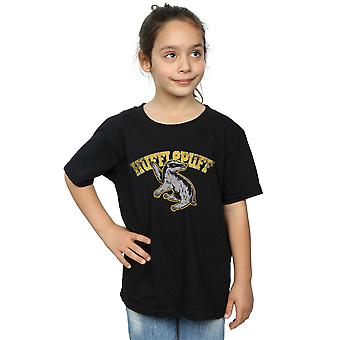 Harry Potter Girls Hufflepuff Sport Emblem T-Shirt