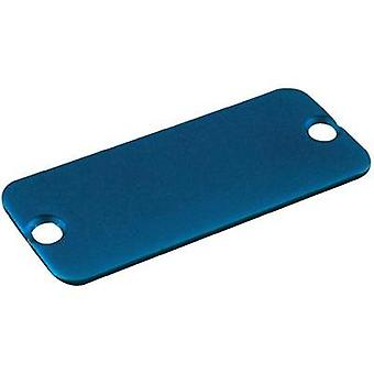 End cover Aluminium Blue Hammond Electronics