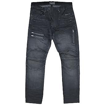 Nitte De Cru Blue Knights Moto tilspidset Jeans