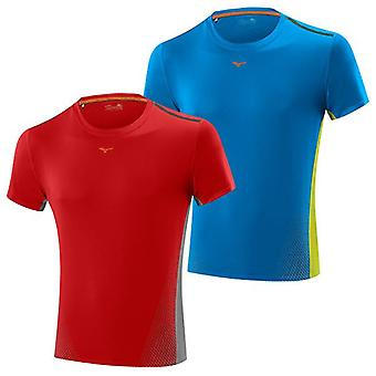 Mizuno 15 Mens Drylite Cooltouch Running T-Shirt X Large Blue