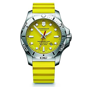 Victorinox Swiss Army 241735 I.n.o.x. Professional Diver Silver & Yellow Genuine Rubber Men's Watch