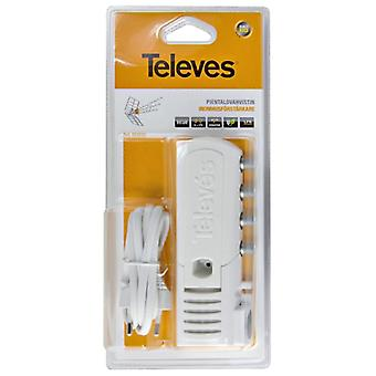 Televés antenna amplifier, indoor, LTE-filter, 2 + 1 exp, 20dB, F-an