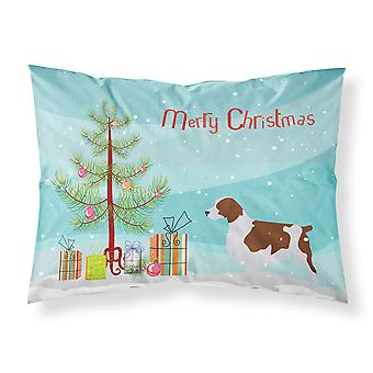 Welsh Springer Spaniel Merry Christmas Tree Stoff Standard Kissenbezug