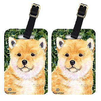 Carolines Treasures  SS8726BT Pair of 2 Shiba Inu Luggage Tags