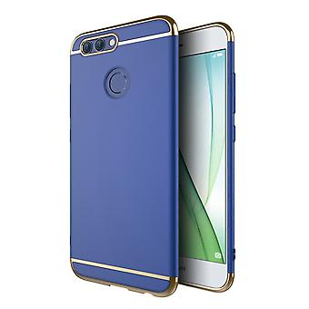 Cell phone cover case for Huawei Y3 2017 bumper 3 in 1 cover chrome case Blue