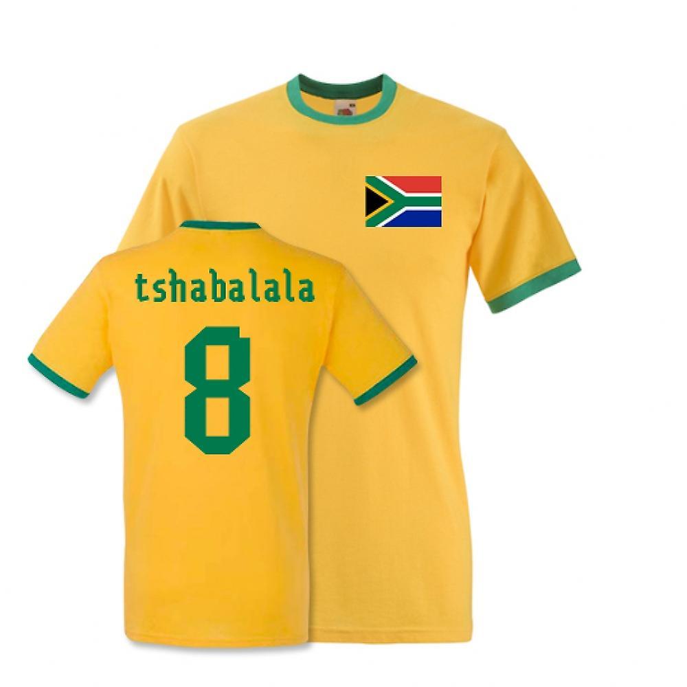 Siphiwe Tshabalala África do Sul Ringer Tee (amarelo)