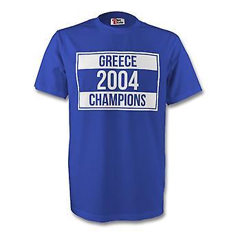 Grecja 2004 mistrzów Tee (niebieski)
