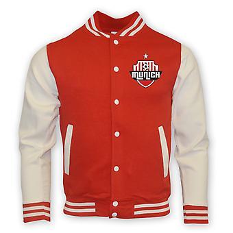 Bayern Munich College Baseball Jacket (rouge) - Kids