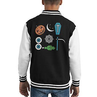 Version 2 October Halloween Kid's Varsity Jacket