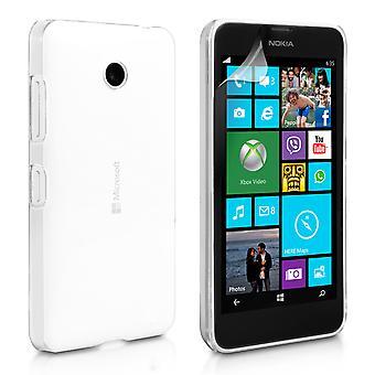 Yousave Аксессуары Microsoft Lumia 532 силиконовый гель случай - Clear