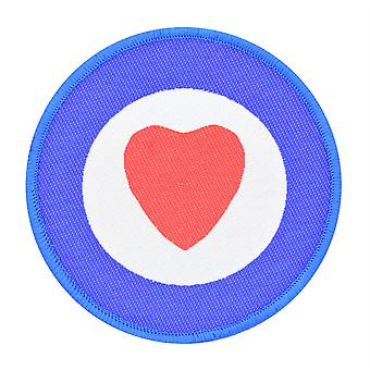 Heart Target Woven Patch
