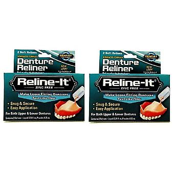 D.O.C. Reline-It, Advanced Denture Reliner 2 repairs 2 Box Pack