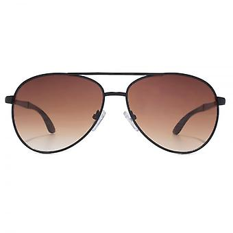 Steelfish Sienna Ace Pilot Sunglasses In Black