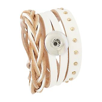 Leather Bracelet For Click Buttons Kb0813