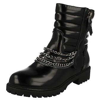 Ladies Spot On Ankle Boots With Zip Fastening F50327