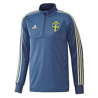 2018-2019 Schweden Adidas Trainingstop (Trace Royal)
