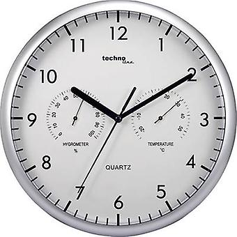 Quartz Wall clock Techno Line WT 650 26 cm Silver
