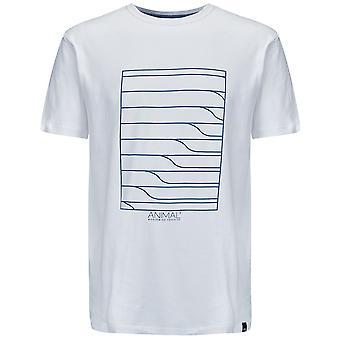 T-shirt manga curta de linhas animal