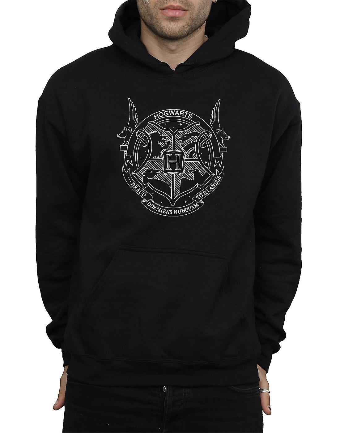 Harry Potter mænds Hogwarts Seal hættetrøje