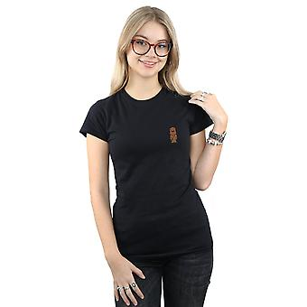 Star Chewbacca poitrine impression T-Shirt Wars féminines