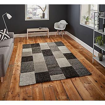 Brooklyn 21830 Grey Black  Rectangle Rugs Modern Rugs