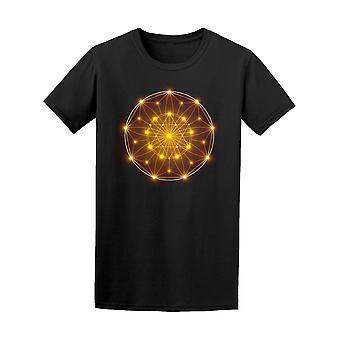 Sacred Geometry Orange Circle Tee Men's -Image by Shutterstock