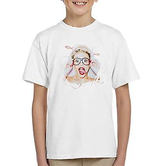 Sidney Maurer Original Portrait Of Miley Cyrus Kid's T-Shirt