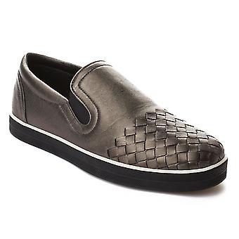 Bottega Veneta kvinders Intrecciato kalv sejl Slip-on Sneakers sko sølv