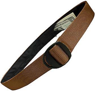 Bison design Crescent svart spenne Pengebelte - Coyote Brown