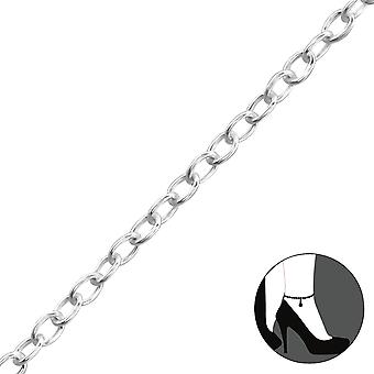 Silver Anklet 27cm Cable Chain With 3cm Extension Included - 925 Sterling Silver Anklets - W37089x