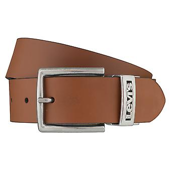 Levi BB´s belts men's belts leather jeans belt beige/black 6403